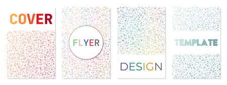 Abstract posters set. Can be used as cover, banner, flyer, poster, business card, brochure. Appealing geometric background collection. Elegant vector illustration.