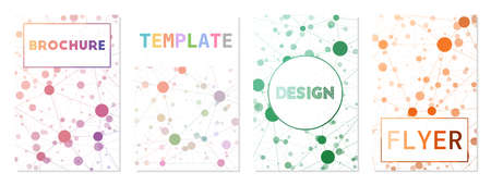 Flyer template, brochure background. Can be used as cover, banner, flyer, poster, business card, brochure. Attractive geometric background collection. Classy vector illustration. 矢量图像