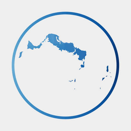Turks and Caicos Islands icon. Polygonal map of the island in gradient ring. Round low poly Turks and Caicos Islands sign. Vector illustration.