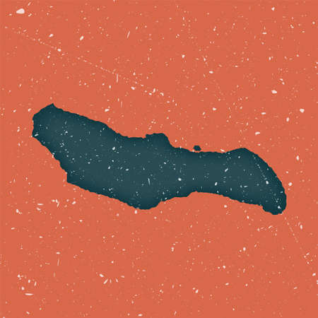 Saona Island vintage map. Grunge map with distressed texture. Saona Island poster. Vector illustration.