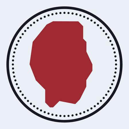 Gili Trawangan round stamp. Round with island map and title. Stylish minimal Gili Trawangan badge with map. Vector illustration. Illusztráció