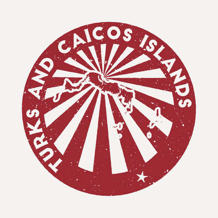 Turks and Caicos Islands stamp. Travel red rubber stamp with the map of island, vector illustration. Can be used as insignia, logotype, label, sticker or badge of the Turks and Caicos Islands.