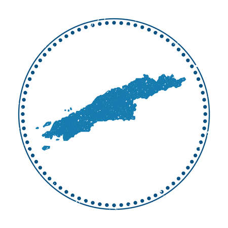 Hydra sticker. Travel rubber stamp with map of island, vector illustration. Can be used as insignia, logotype, label, sticker or badge of the Hydra.