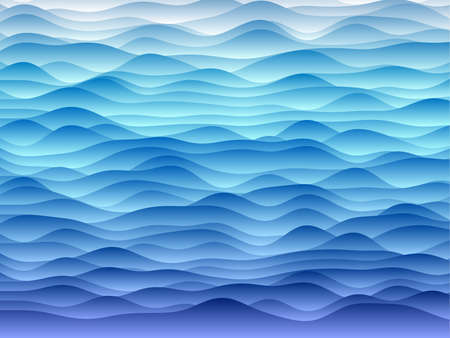 Abstract curves background. Smooth curves with gradients in blue colors. Astonishing vector illustration. Illustration