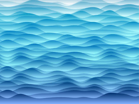 Abstract curves background. Smooth curves with gradients in light blue colors. Creative vector illustration. Illustration