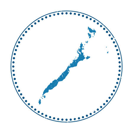 Palawan sticker. Travel rubber stamp with map of island, vector illustration. Can be used as insignia, logotype, label, sticker or badge of the Palawan.