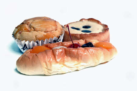 snazzy: sweet bread with cherries, raisins, jam, peaches, lychees and blueberries