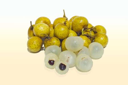 indulgence: longan fruit which taste sweet indulgence Stock Photo