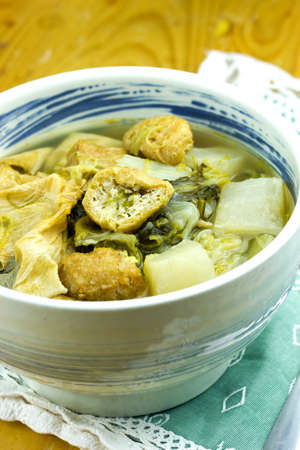 Chinese vegetable stew (Jab Chai), mixture of vegetables and tofu Stock Photo