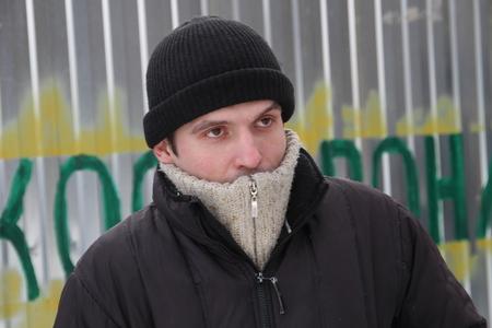 activist: Khimki, Russia - February 1, 2012. Aleksey Rassolov an activist of the Khimki forest Defenders