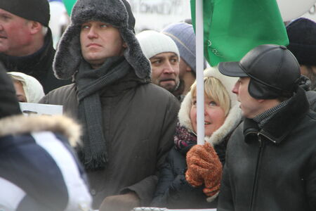 political prisoner: Opposition leader Alexei Navalny on the March for fair elections