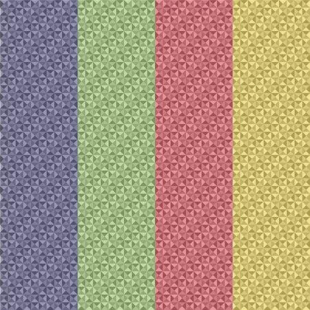 substrate: Resumen de fondo de cuatro plantas, azul, amarillo, verde y rojo con un sustrato de formas geom�tricas Vectores