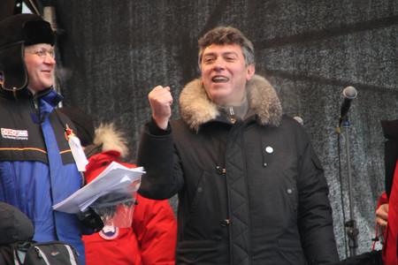 nikolay: Policy Nikolay Ryzhkov and Boris Nemtsov on the stage of opposition rally Editorial