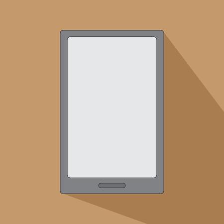 ereader: Tablet eReader for books smartphone icon flat design vector Illustration
