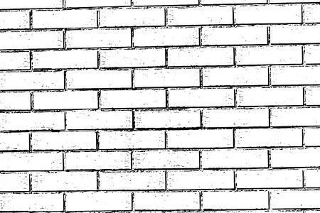 brickwork: Brick wall texture background vector art modern uneven masonry