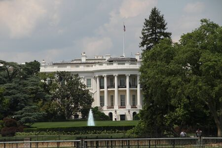 Washington DC, USA - may 13, 2012. The white house views over the lawn