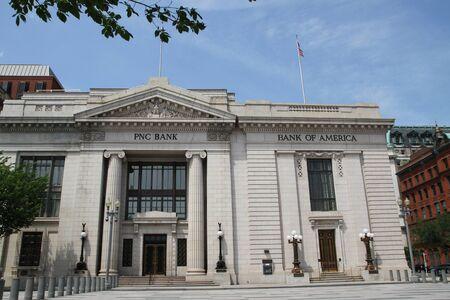 Washington DC, USA - may 13, 2012. The building of the Bank of America and PNC Bank