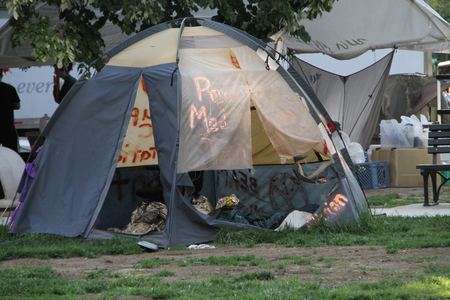 occupy: Washington DC, USA - may 18, 2012. The camp of the Occupy movement in Washington