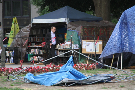 Washington DC, USA - may 18, 2012. The camp of the Occupy movement in Washington