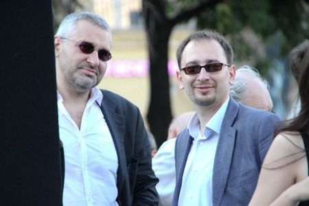 nikolay: Moscow, Russia - July 26, 2012. lawyers Mark Feygin and Nikolay Polozov. The first meeting in protection of the prisoners arrested for protest events on Bolotnaya Square on May 6, 2012 in Moscow