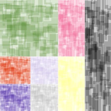 시뮬레이션: Eight abstract color backgrounds set. Out-of-field simulation refocus and marker