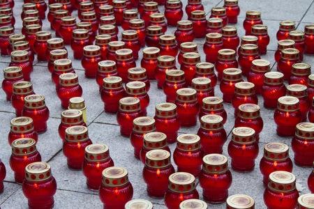 luto: Mourning faroles de velas de vidrio