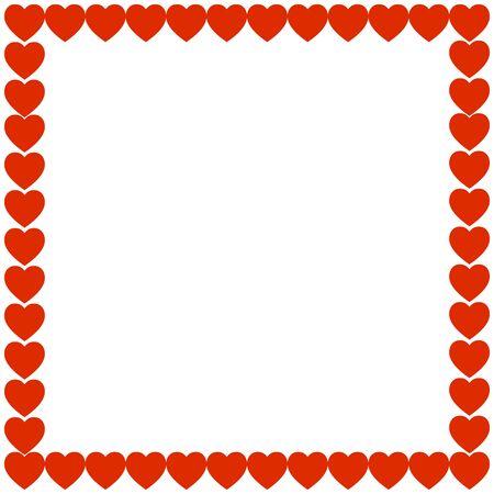 hem: Red heart holiday gift background frame