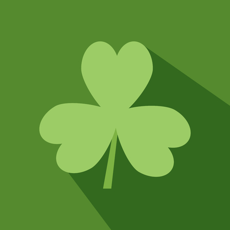 patric icon: Day Patrick green Irish Shamrock flat icon