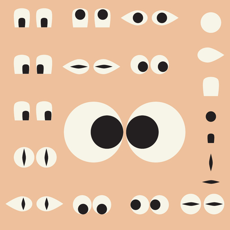 eye socket: Set of cartoon eyes for the characters