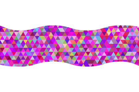 hue: Geometric abstract ribbon of triangles red hue background