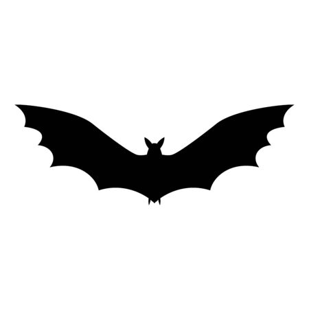 insectivorous: Bat black vector background silhouette Halloween characters