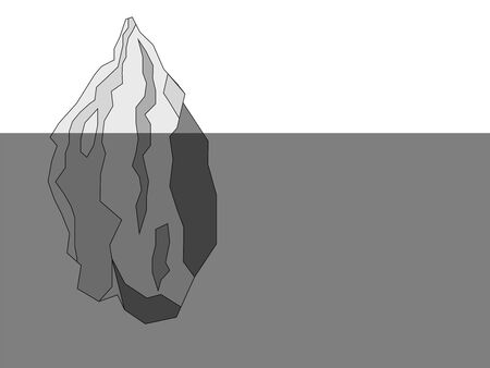 secretive: Iceberg black and white polygon background. The flat design. Business style
