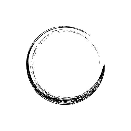 Circle grunge ink spot vector background. Circle vector. Ink vector. Circle background. Ink background. Spot EPS. Grunge vector. Circle brush black