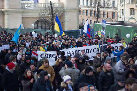 boris: Moscow, Russia - February 27, 2016.  Ukrainian Savchenko column free memory Nemtsov march. March in memory of Boris Nemtsov. On the anniversary of the murder of Russian opposition politician, the opposition held a protest March in Moscow