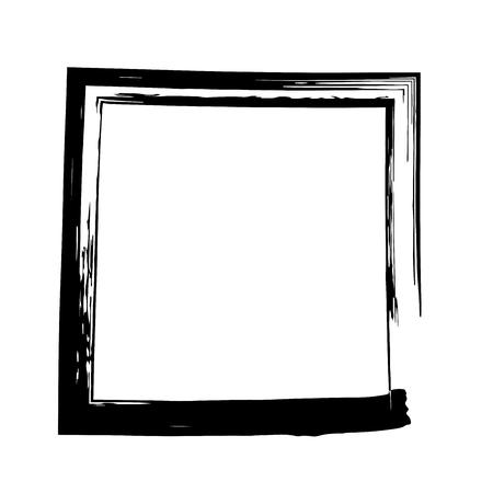 grange: Frame square ink grunge background. Vector frame. Ink frame. Grange square. Black square Illustration