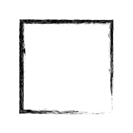 grunge frame: Frame square ink grunge background. Vector frame. Ink frame. Grange square. Black square Illustration