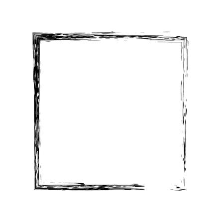 Cadre carré d'encre grunge. Vector frame. cadre d'encre. carré Grange. carré noir