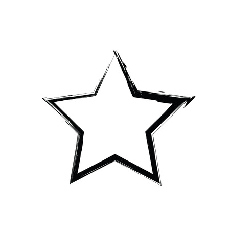 estrellas cinco puntas: vector de la estrella del grunge. estrella de cinco puntas. símbolo de la estrella del vector. Las estrellas del cielo. estrella soviética y estadounidense
