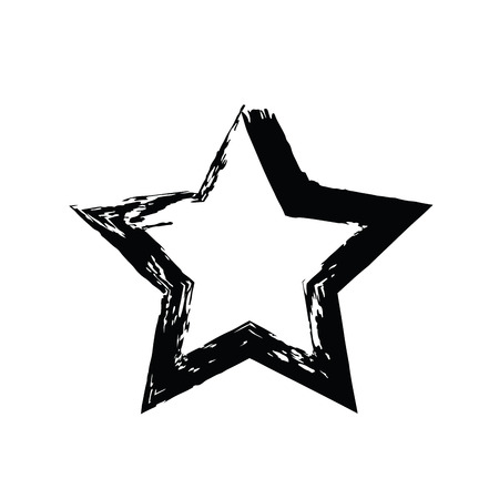 heavenly: grunge star vector. Five-pointed star. Vector star symbol. The heavenly stars. Soviet and American star Illustration