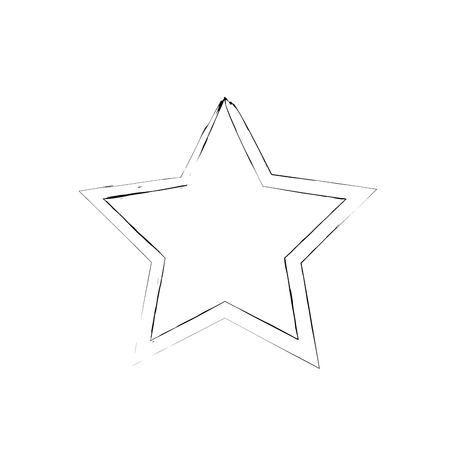 war paint: grunge star vector. Five-pointed star. Vector star symbol. The heavenly stars. Soviet and American star Illustration