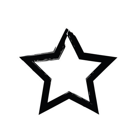 soviet: grunge star vector. Five-pointed star. Vector star symbol. The heavenly stars. Soviet and American star Illustration