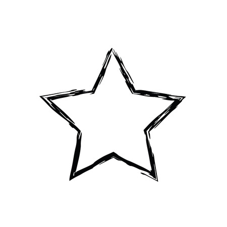 グランジ星ベクター。5 先の尖った星。ベクトル星のシンボル。天星です。ソ連とアメリカのスター