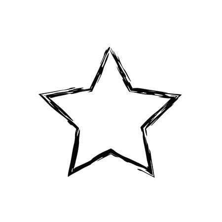 estrellas cinco puntas: grunge star vector. Five-pointed star. Vector star symbol. The heavenly stars. Soviet and American star Vectores