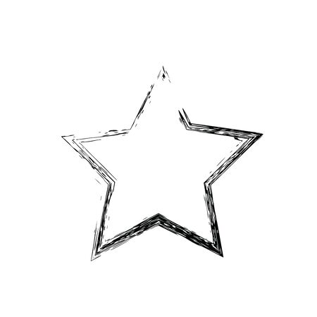 estrellas cinco puntas: grunge star vector. Five-pointed star. Vector star symbol. The heavenly stars. Soviet and American star Foto de archivo