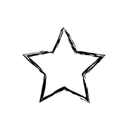 Grunge Star Vector Five Pointed Star Vector Star Symbol The