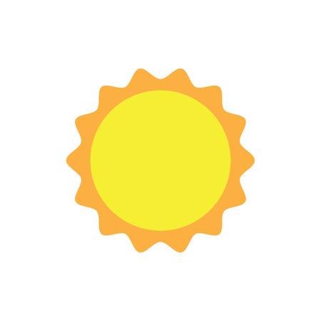 summer heat: sun icon symbol. Weather the summer heat. The sun illustration. Weather forecast Illustration