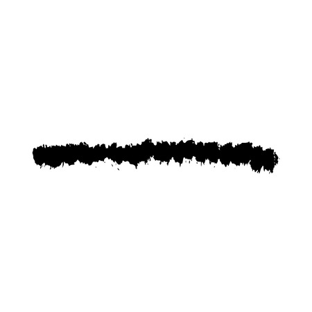 uneven: Grunge Brush Stroke Vector. Distressed Brush Black. Textured paint brushes. Old ink line paint uneven brush Stock Photo