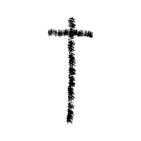 orthodoxy: Christian cross grunge vector religion symbol. The Cross Of Jesus Christ. The cross of Christianity Catholicism Protestantism Orthodoxy. Old black cross
