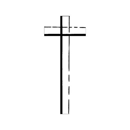 mysticism: Christian cross grunge vector religion symbol. The Cross Of Jesus Christ. The cross of Christianity Catholicism Protestantism Orthodoxy. Old black cross