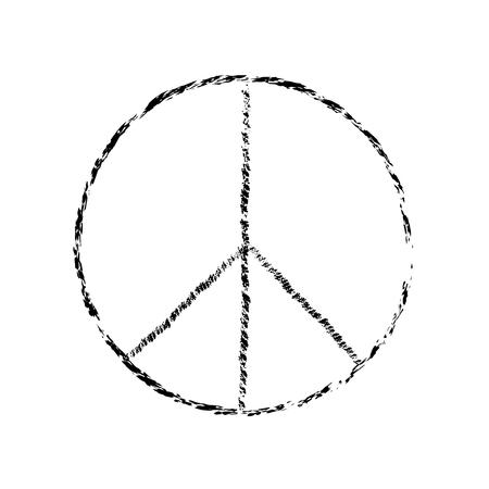 pace simbolo icona del vettore. La guerra e la pace amicizia pacifismo. illustrazione della pace